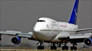 Syrianair Boeing 747