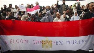 Mass protest in Cairo - 1 February 2011