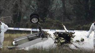 crashed aircraft