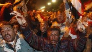 Egyptians celebrate Hosni Mubarak's resignation