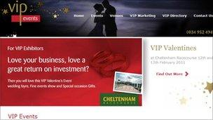 The event advertised on the VIP Events website