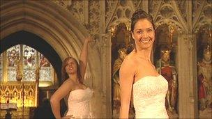 Bridal fashion show in Ripon Cathedral