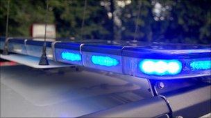 police flashing light generic