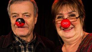 Tony Blackburn and Jenni Murray