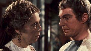 Margaret Tyzack with Derek Jacobi in I, Claudius