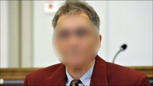Detlef S, distorted picture from court