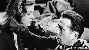 Humphrey Bogart with Lauren Bacall in the 1940s film of Raymond Chandler's The Big Sleep