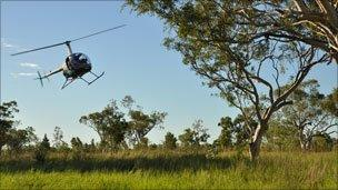 Helicopter round-up, photo by BBC's Jasper Montana