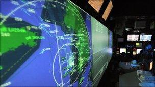 Battle map on screen