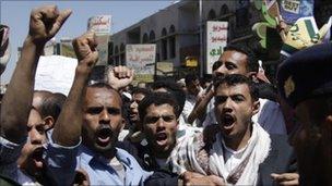 Anti-government protest, Sanaa, 15 Feb