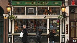 The Harp pub in Covent Garden