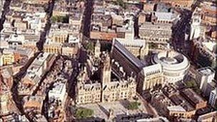 Manchester city centre]