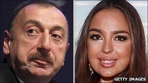 Ilham Aliyev and his daughter, Leyla Aliyeva