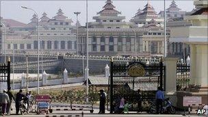 File image of Burma's new parliament in Naypyidaw
