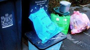 Household bins in Newcastle under Lyme