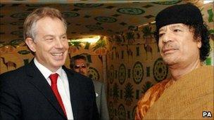 Muammar Gaddafi and Tony Blair - 29 May 2007
