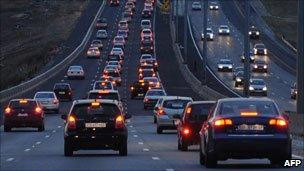 South African traffic in Gauteng province