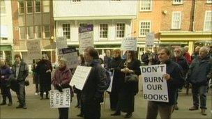 Gloucestershire cuts protesters