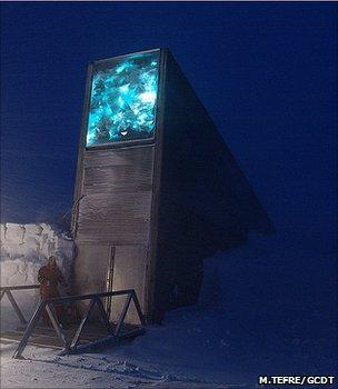 Entrance to the Svalbard seed vault (Image: Mari Tefre/Global Crop Diversity Trust)