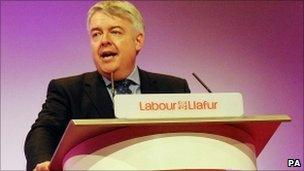 Carwyn Jones at the Welsh Labour conference