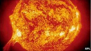 Soho image of the sun (SPL)