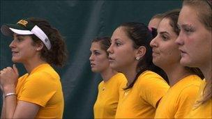 The Baylor women's team