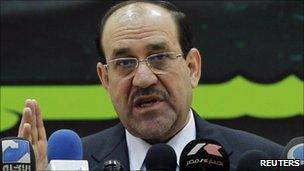 Iraqi Prime Minister Nouri Maliki - 15 February 2011