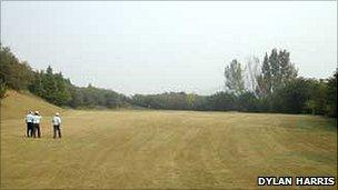 The golf course at Pyongyang in North Korea