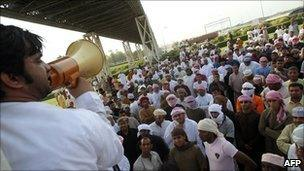 Protesters in Oman