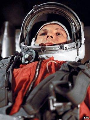 Gagarin waiting for lift-off
