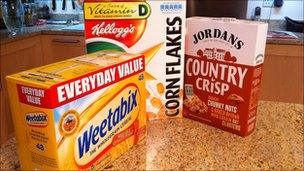 Cereal packages