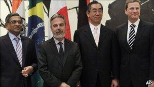 Matsumoto and others at the United Nations in New York, 11 Feb 2011