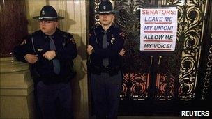 Police at Wisconsin capitol