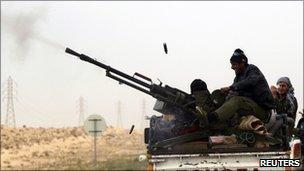 Rebel fighter in Ajdabiya