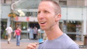 A man wearing a hearing aid