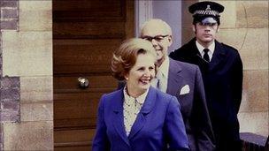 Margaret and Dennis Thatcher in 1979