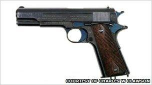 A Colt M1911, from the collection of Charles W Clawson
