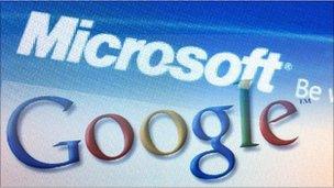 Microsoft and Google logos