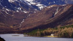 House on the banks of Loch Muick