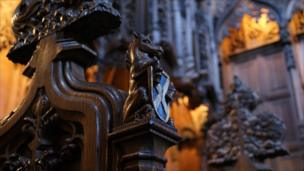 Wood carving in St Giles Cathedral