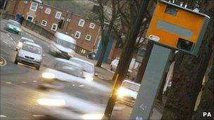 Speed camera and cars