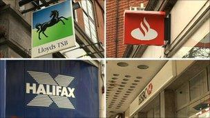 High street bank signs