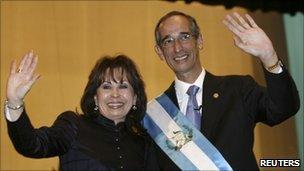 Sandra Torres and Alvaro Colom in 2008