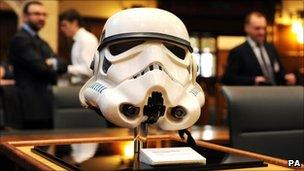 A Stormtrooper helmet at the Supreme Court