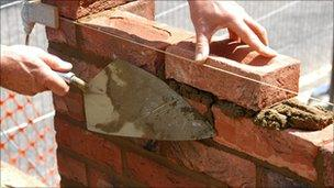 generic photo of bricklayer at work