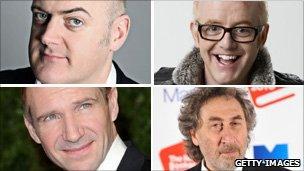Dara O'Briain, Chris Evans, Howard Jacobson, Ralph Fiennes