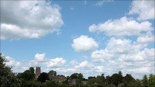 Clouds over Cotswolds