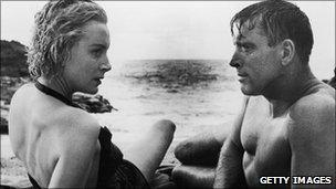 Deborah Kerr and Burt Lancaster in From Here to Eternity
