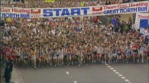 The first Great North Run in June 1981