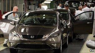 Honda production line in Swindon